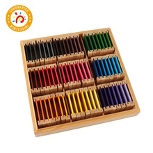 Baby Toy Montessori Wooden Colorful Color Tablets Preschool Training Kids Puzzle Educational Toys For Children