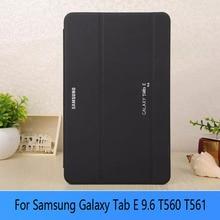 Планшет Чехол для Samsung GALAXY Galaxy Tab 9.6 T560 SM T560 T561 PU Защитный Shell Защитите + Экран защитные пленки + стилус