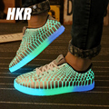 HKR 2017 Specials emitting luminous men casual shoes men no LED lights shoes no led shoes for adults shoes Fluorescence 675
