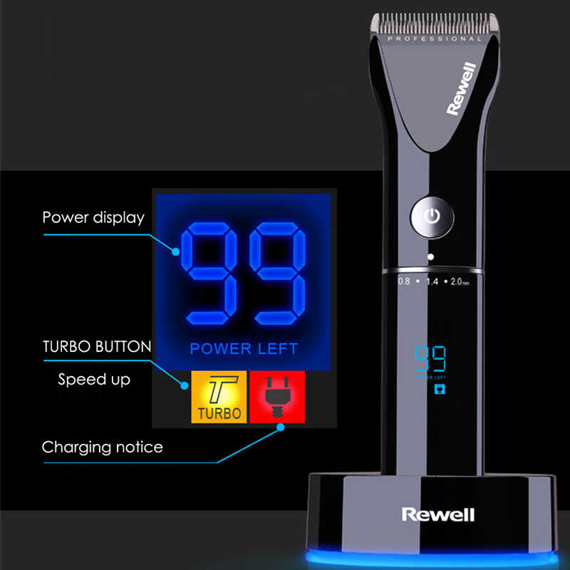 100-240V Turbo Rechargeable Hair Clipper Professional Hair Trimmer for Men Electric Cutter Hair Cutting Machine Barber Salon F17