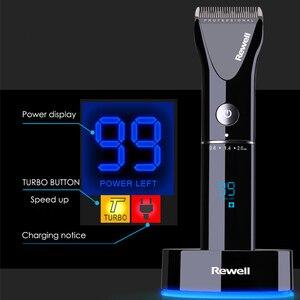 Image 1 - Cortadora de pelo profesional Turbo recargable para hombre, cortador eléctrico, Máquina para cortar cabello, peluquería, F17, 100 240V