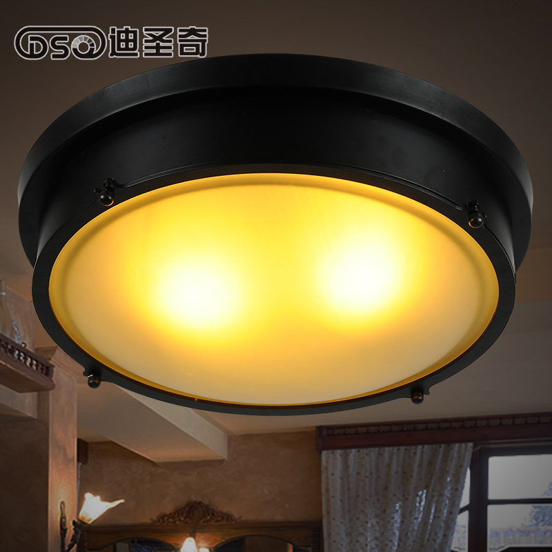 Retro Style Led Ceiling Lights Adjustable Angle Clothing: Loft Style Led Black Metallic Diner Ceiling Lamp