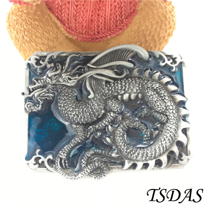 Retail 1pc Dragon Belt Buckle 68 3g pc Metal Western Belt Buckle With Pewter Finish For
