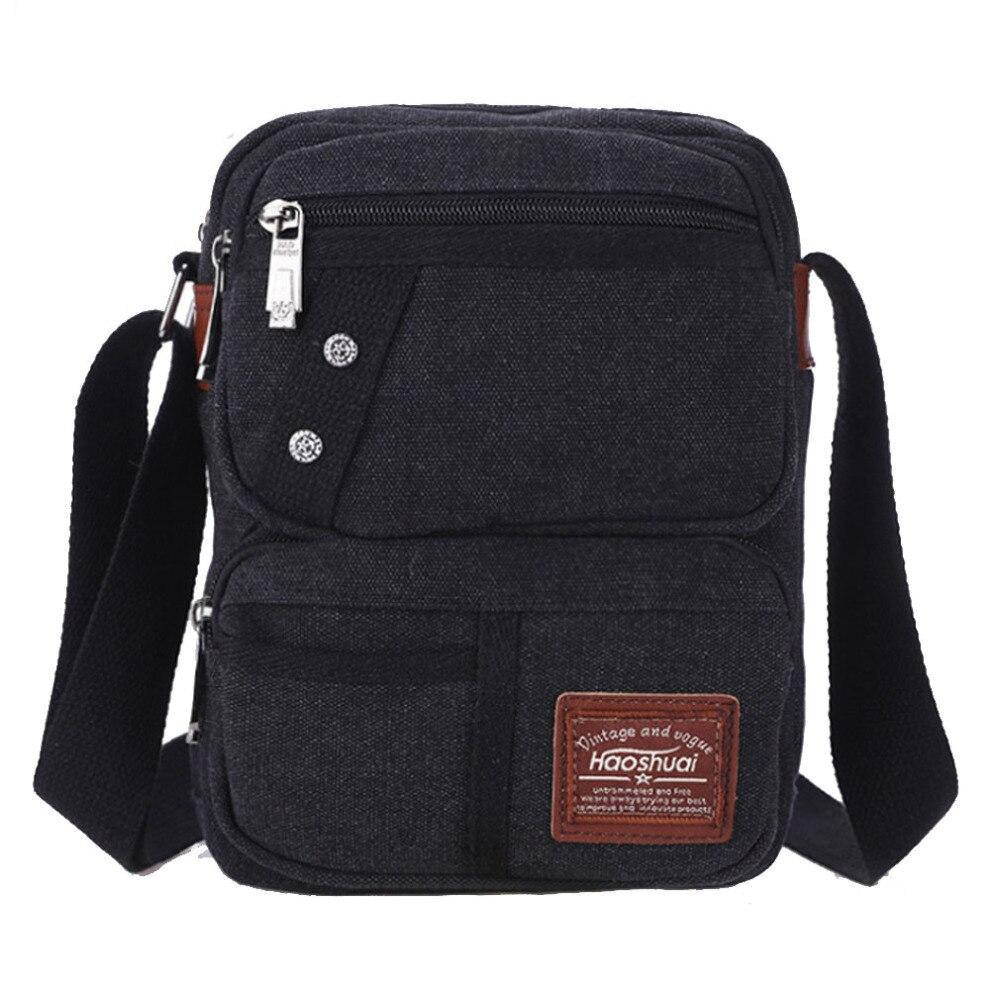 New Men's Canvas Messenger Shoulder Bag Casual Vintage Medium Travel Bag zipit сумка medium shoulder bag