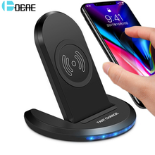 DCAE 10W Qi Wireless Charger For iPhone X XS Max 8 Plus XR Fast Wireless Charging Pad Adapter For Samsung Galaxy Note 9 8 S9 S8