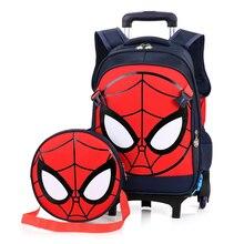 d3e463135 De cuento de equipaje rodante la escuela mochila de viaje bolsa caso maleta  spiderman para hero fans