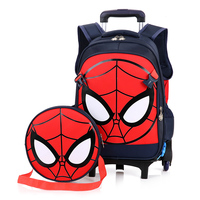 Rolling Luggage School backpack Travel Trolley Bag Case Suitcase spiderman for hero fans