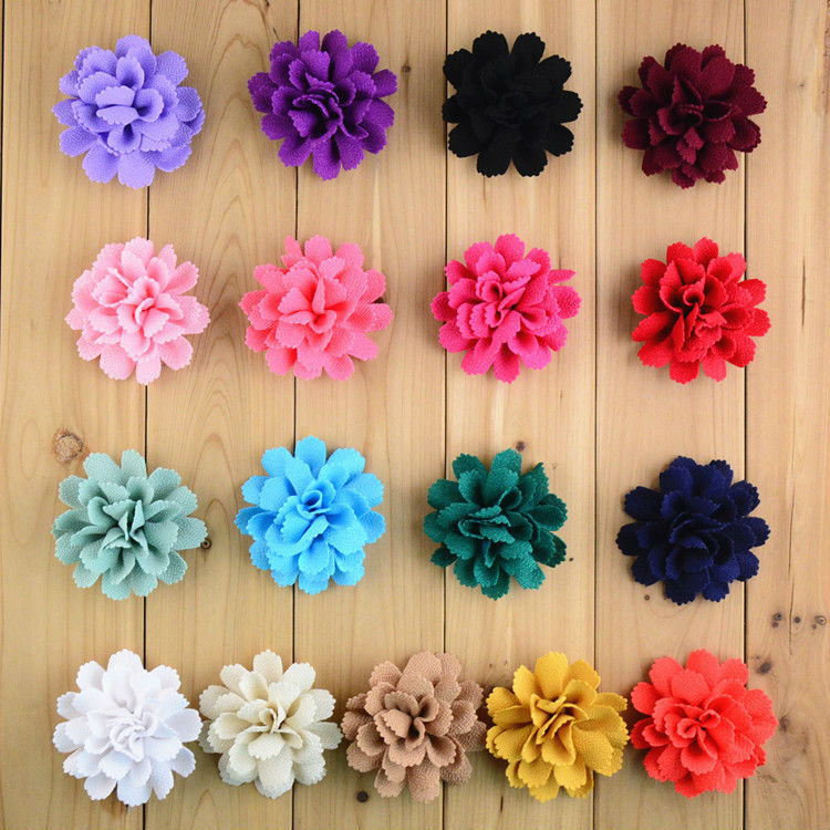 40pcs Lot 3 Chiffon Fabric Flowers Artificial Flower Diy For Kids Clothes Corsage Dress Hair Accessories Free Shipping Fh59 In From Mother