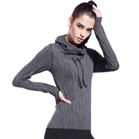 3 Colors High Quality Women S Sports Long Sleeved Sleeve Head Hoodies Sports Pullovers High Elastic