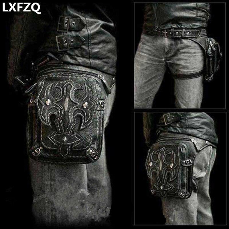 Стимпанк чехол защищены кошелек плеча рюкзак кошелек кожаный Для мужчин мешок Carteras Mujer бедра Двигатель ноги Outlaw pack