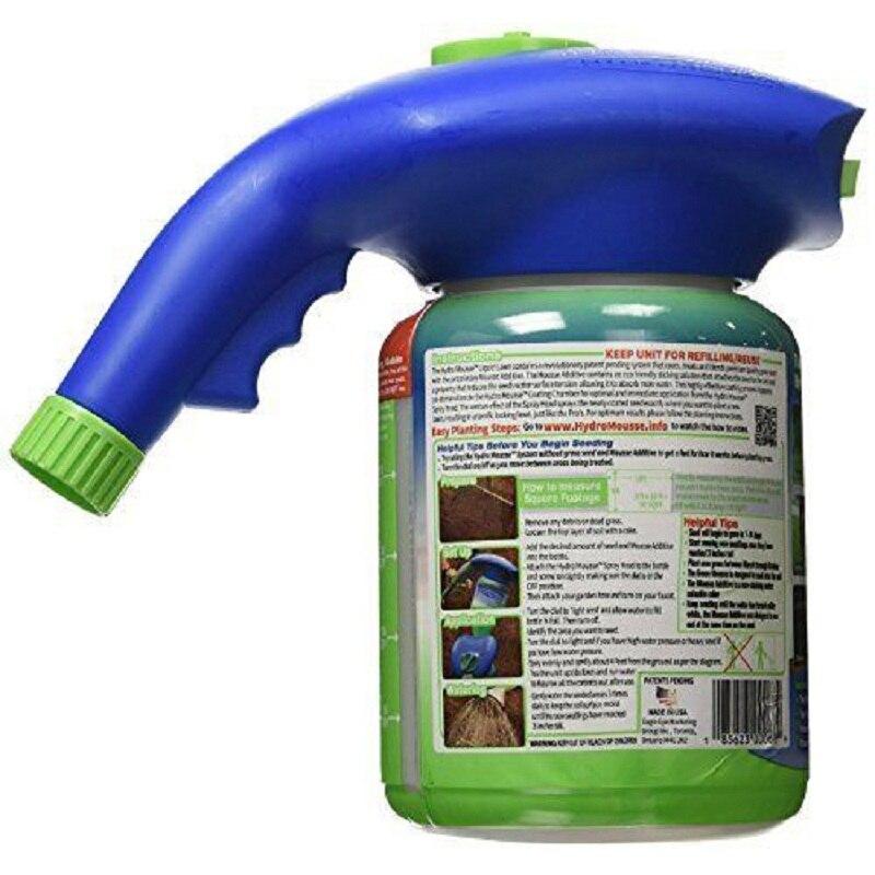 Semilla rociadores líquido césped sistema hierba rociador regadera de plástico puede rápida y fácil pulverizadores con crecimiento sustancia