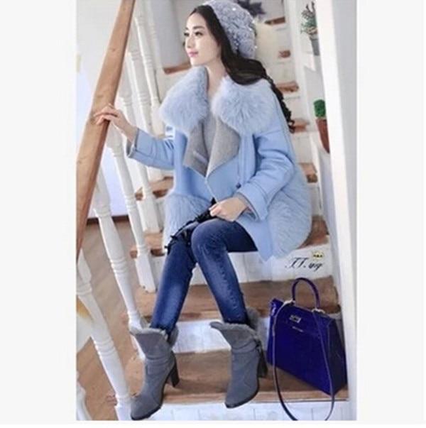 Veste en laine fourree femme