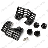 Motorcycle Accessories Black Finned Spark Slotted Plug Head Bolt Covers For Harley Trikes Road King