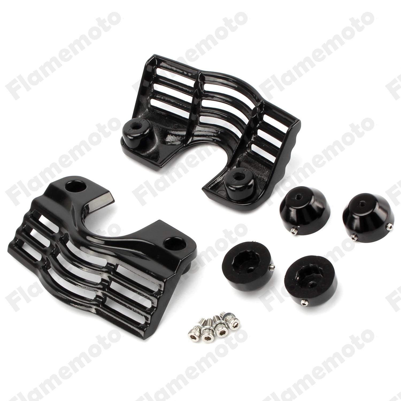 Accesorios de la motocicleta Negro Finned Spark Plug Perno de Cabeza Ranurada Cu