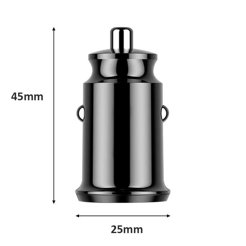 Mini USB adaptador Dual del cargador del coche 3.1A coche-cargador de teléfono móvil cargador USB del coche Auto 2 puerto para Samsung iPhone Huawei