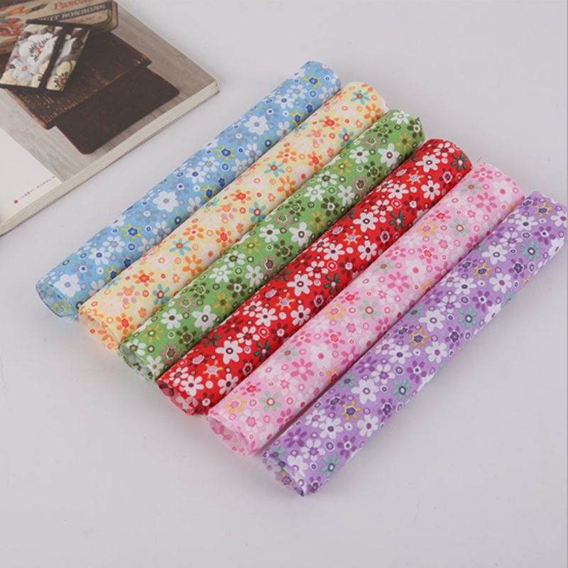 Mixed flora Cotton Patchwork Fabric for DIY Sewing  Handmade Home Decoration Needlework 25x25cm/piece T7867 craft