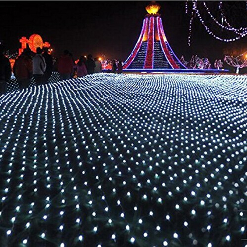 Kmashi 8X10M 1920 LED Net Lights Indoor/Outdoor Landscape Lighting Twinkle Fairy String Light Christmas New Year Waterproof 220V ...