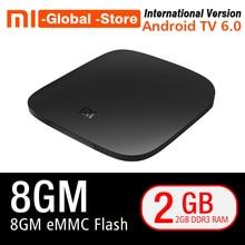 Global Version Xiaomi MI font b TV b font BOX 3 Smart 4K Ultra HD 2G