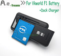 High Quality Dock Charger+100% NEW 1850mAh Battery For Vkworld F1 Li-ion Battery For Vkworld F1 Mobile Phone Bateria In stock