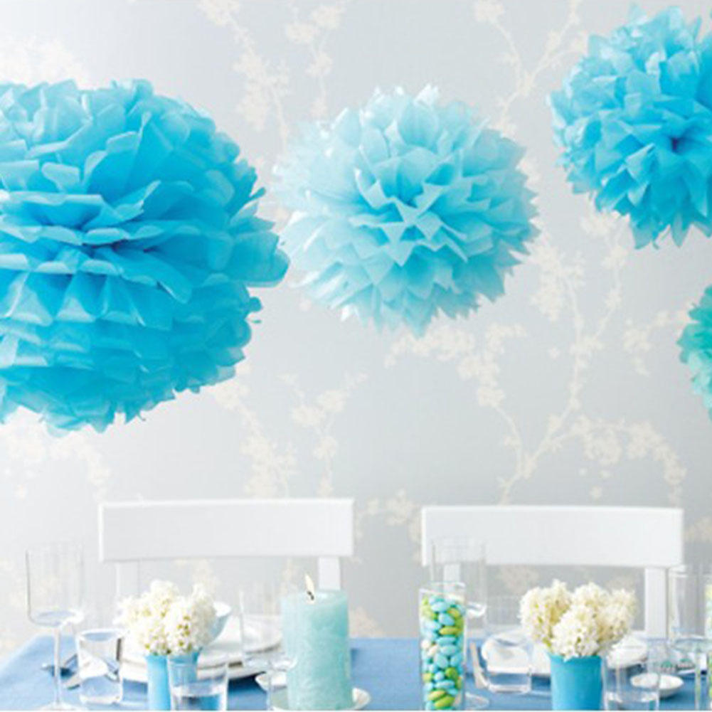 10pcs Artificial Tissue Paper Flower Balls Pompoms for Wedding ...
