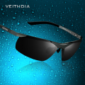 VEITHDIA 6501 Aluminum Magnesium Polarized Sunglasses Men Brand Sunglasses Driving Mirror Sport Mens Sun Glass Vintage