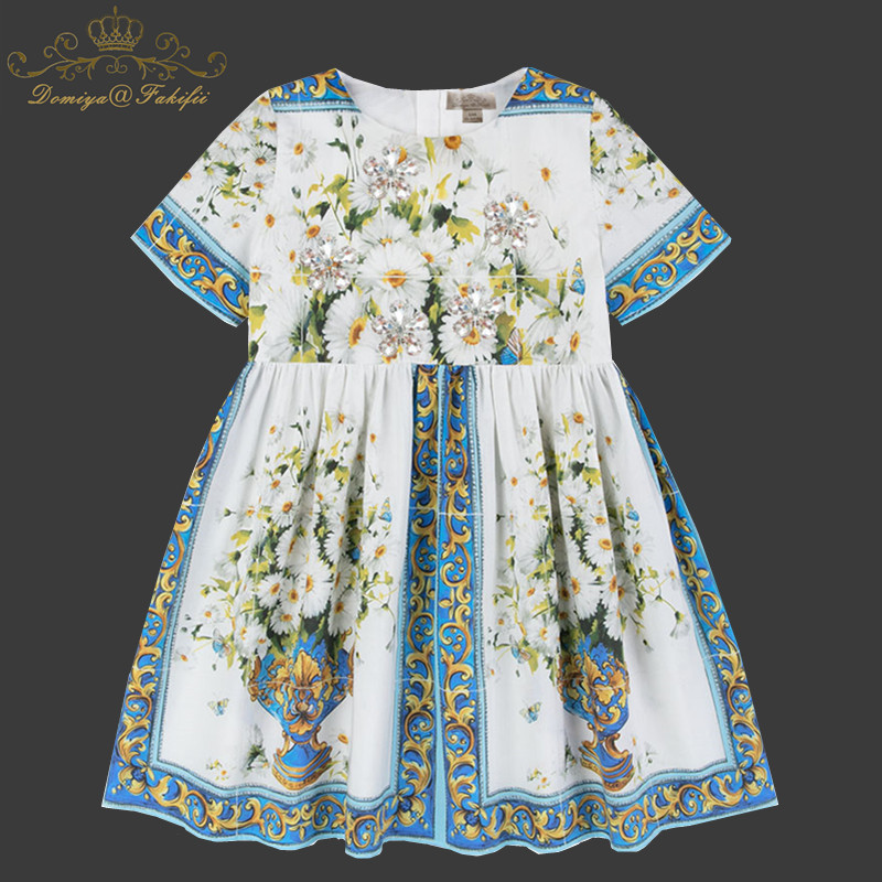 цены 3 Year Baby Girl Birthday Dresses Toddler Little Girls Party Floral Princess Dress Summer 2018 Kids Clothes Children Clothing