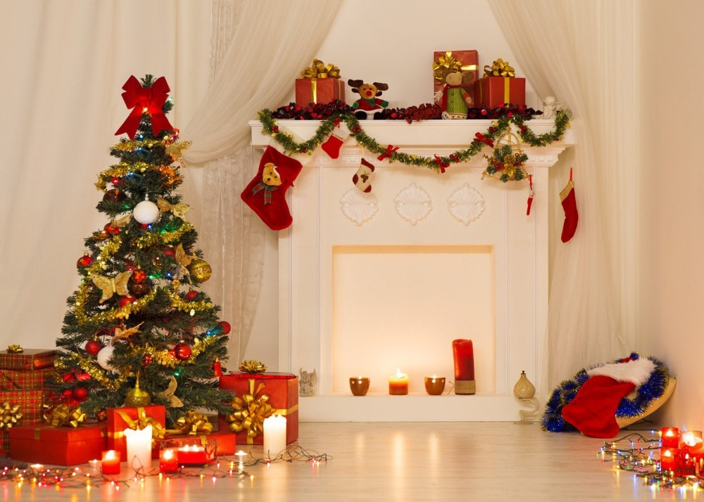 Capisco indoor christmas photography backdrops with christmas tree