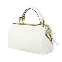 Luxury Women Crocodile Pattern PU Leather Handbag Messenger Crossbody Shoulder Bag White
