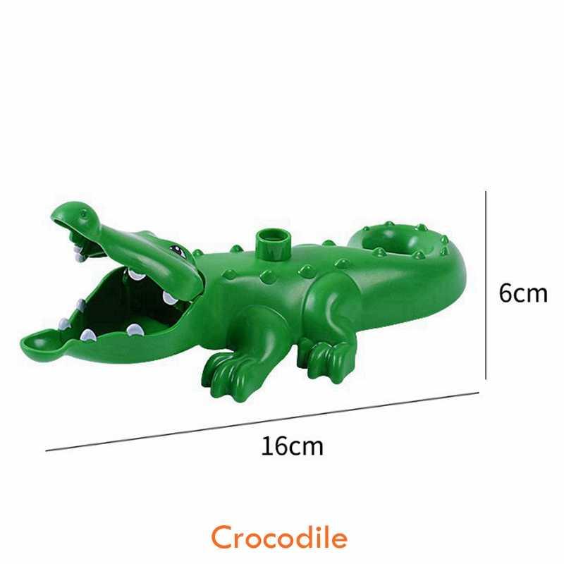 デュプロ動物猿キリンリスワニ虎パンダ恐竜モデルビルディングブロック教育のおもちゃベビーギフト