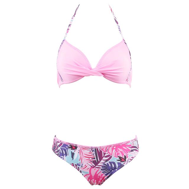 New Criss Bandage Halter Bikini set