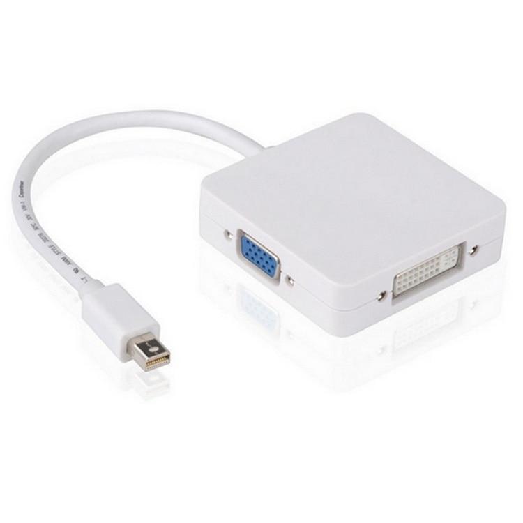 1PCS mini Displayport DP to HDMI DVI VGA Adapter 3 in1 Thunderbolt Mini Display port Cable