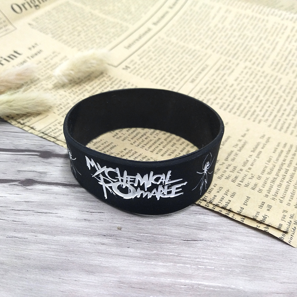 My Chemical Romance Silicone bracelet Punk Rock Band Music Wristband Bracelet for Women Men