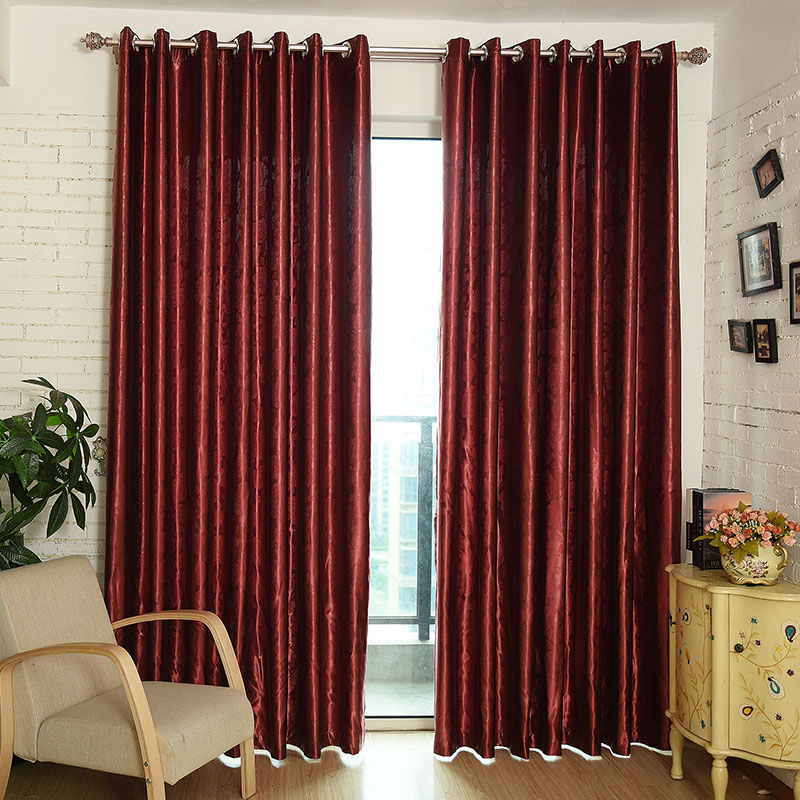 Top finel modern luxury embossing window curtains shades for Space curtain fabric