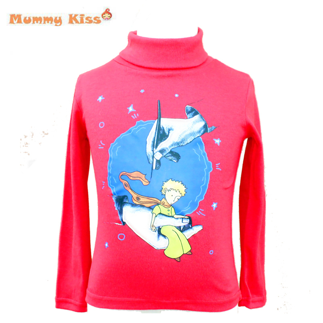 2016 New The Little Prince T Shirts Big Boys Girls High-necked Pullover Tops Kids Long Sleeved T Shirt Bottoming Shirt tyh-50561