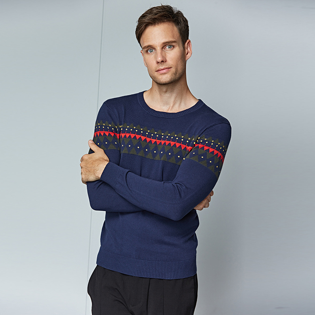 Limited Knitted Sweater for Men Winter Business Casual Dress Brand Clothing O-neck Long Sleeve Pullovers Mens Sweaters Pullover
