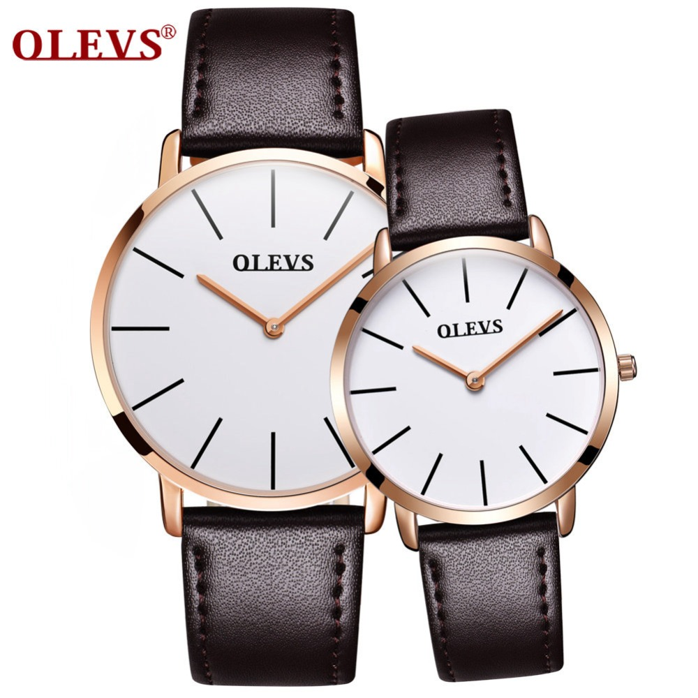 OLEVS Fashion Men Women Watches Luxury Brand ultra thin Quartz Wrist Watch Couple Lover Watches relogios Clock erkek kol saati рамка despina 1 я mono electric бронза