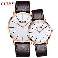 OLEVS Fashion Men Women Watches Luxury Brand ultra thin Quartz Wrist Watch Couple Lover Watches relogios Clock erkek kol saati