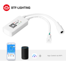 SP501E LED Wifi Light WS2812B Controller Addressable RGB Strip Amazon Alexa Smart SPI Voice APP Control for Andriod/iOS DC5 24V-in RGB Controlers from Lights & Lighting on AliExpress