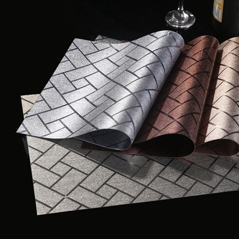 cool thick pvc heat insulation dining table mat placemat washed disc bowl coasters waterproof cloth slip