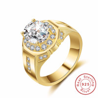 Simple Fashion Style Cushion Cut 2ct Cz Ring Original 925 Sterling Silver Rings High Quality Wedding