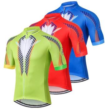Koszulka kolarska męskie koszulki rowerowe koszulka górska MTB koszulka z krótkim rękawem Maillot Ciclismo racing Top letnia odzież zielona czerwona niebieska tanie i dobre opinie Jazda na rowerze Wiosna summer JERSEY Anty-pilling Oddychające Szybkie suche Zamek na całej długości Pasuje prawda na wymiar weź swój normalny rozmiar