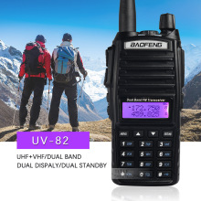 (1pcs)walkie talkie BaoFeng UV-82 Dual-Band 136-174/400-520 MHz FM Ham  Two way Radio Transceiver super power baofeng uv82