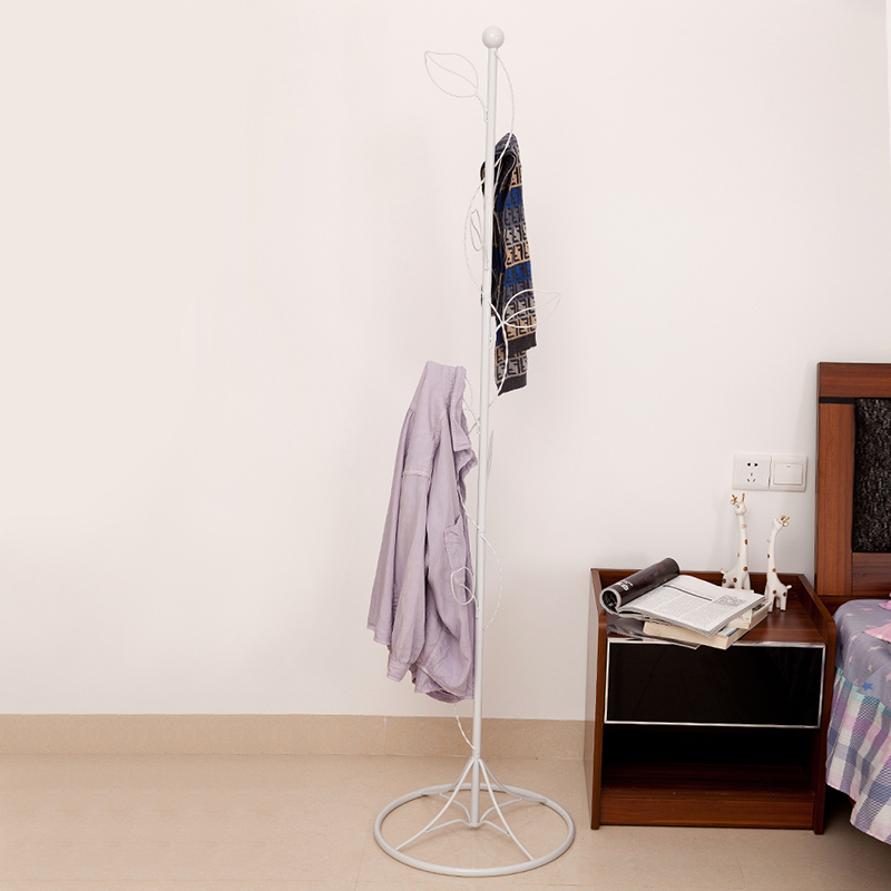 Metal Coat Rack Simple European Style Bedroom Floor Racks, Hangers Creative  Folding Clothes Rack