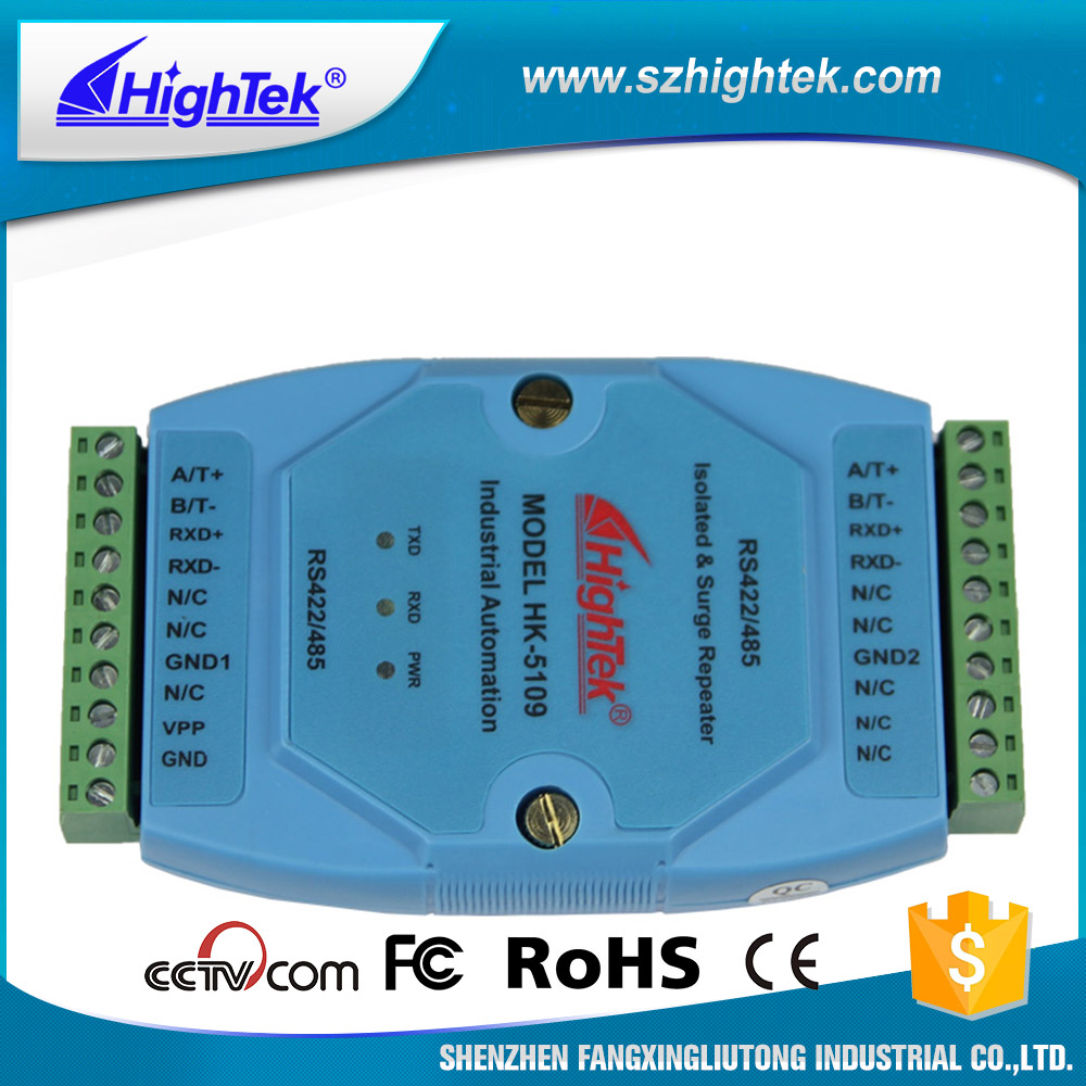 HighTek HK -5109 Industrial grade Rs485/422 Photoelectric Isolation Data Repeater ...
