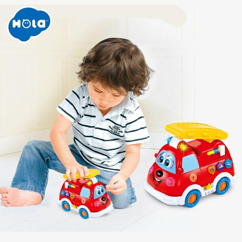 Jouets à HUILE 526 espagnol et anglais langue camion de pompier électrique jouet avec lumière clignotante et musique enfants jouets éducatifs d'apprentissage précoce