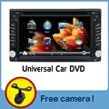 100% Nova universal Duplo Rádio Do Carro 2 din DVD Do Carro jogador Navegação GPS In dash Car PC Stereo vídeo + Mapa Gratuito + Frete câmera