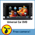 100% Nueva Radio de Coche universal Doble 2 din Car DVD reproductor de Navegación GPS En El tablero PC Del Coche de vídeo Estéreo + Free + Free cámara