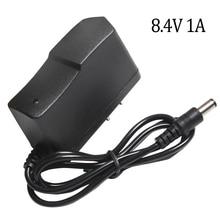 8.4 V 1A Lityum pil şarj cihazı 7.4 V 1A ABD Plug 110 220 V Lityum pil şarj cihazı DC 5.5*2.1 MM