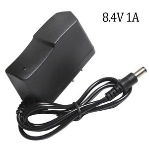 Image 1 - Cargador de batería de litio 8,4 V 1A, 7,4 V 1A, enchufe estadounidense, 110 220V, cargador de batería de litio CC 5,5*2,1 MM