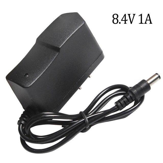 Cargador de batería de litio 8,4 V 1A, 7,4 V 1A, enchufe estadounidense, 110 220V, cargador de batería de litio CC 5,5*2,1 MM